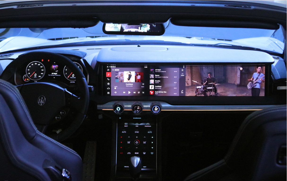 Harman's pop-out QLED dashboard