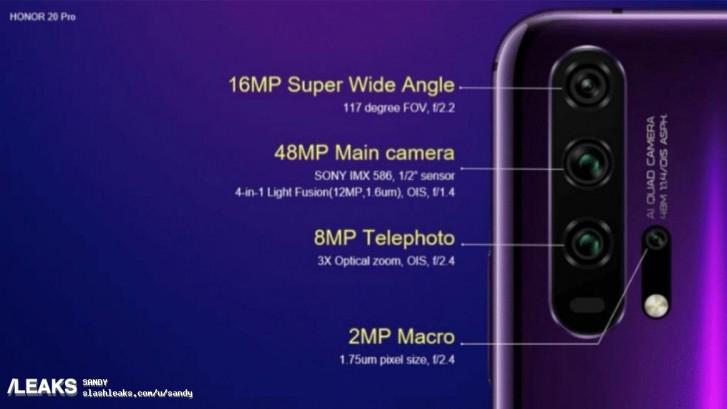 Honor 20 Pro camera leak
