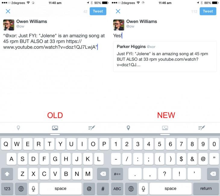 تويتر تحسّن من عملية الأقتباسات في المتصفح و iOS وقريبا على