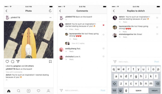 Instagram adds threading to comments