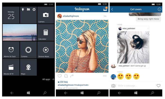 Instagram windows10