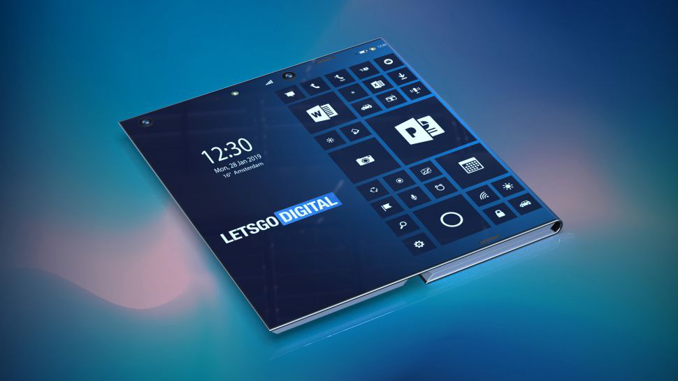 Intel foldable smartphone-PC hybrid