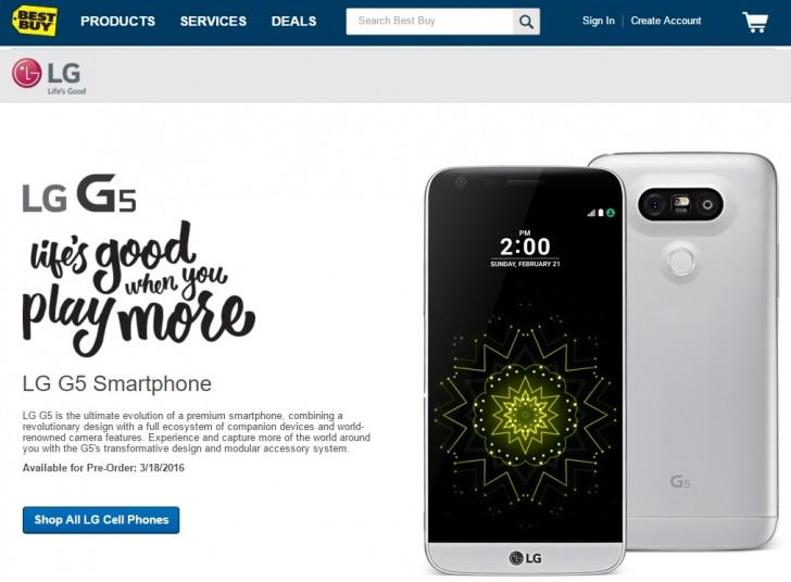 LG G5- pre order