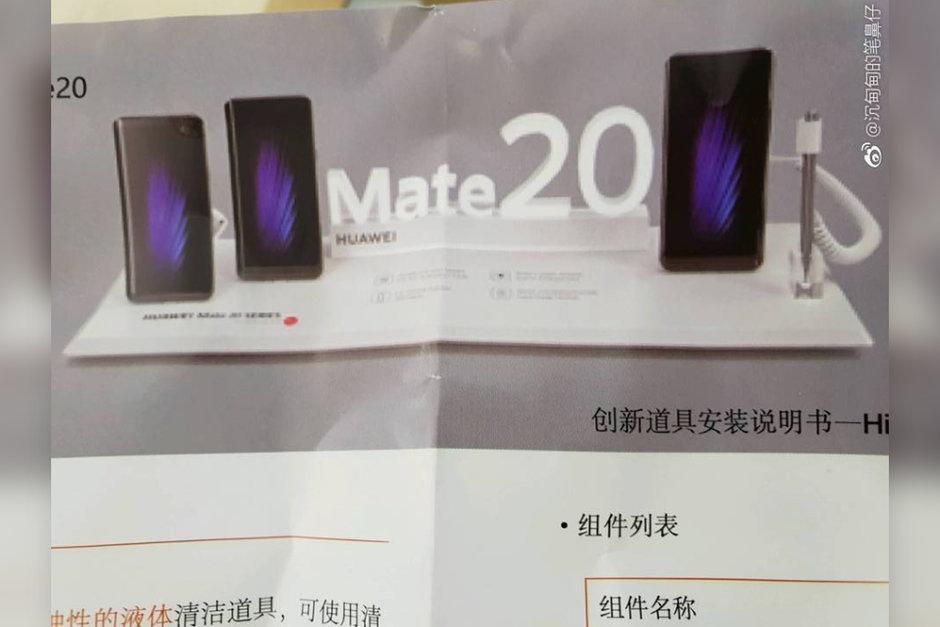 إعلان مُسرب لمجموعة Huawei Mate 20 يكشف عن وجود قلم مع هاتف Mate 20X