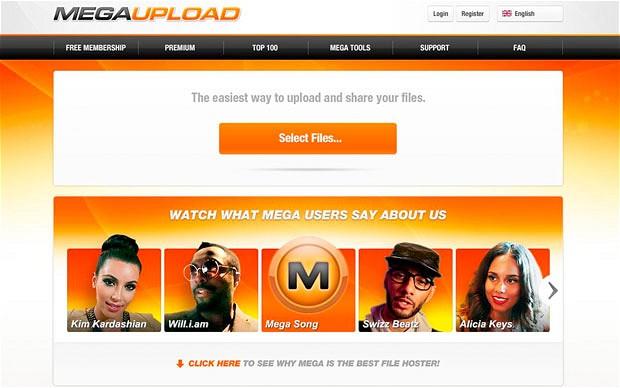 Megaupload-website