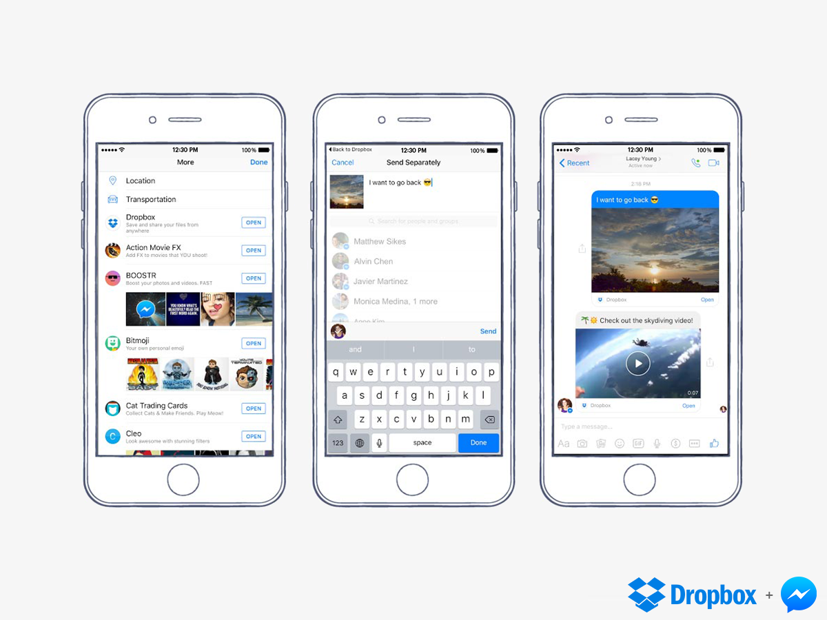 Messenger-Dropbox