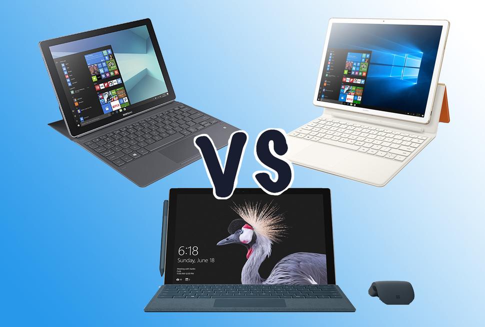 Microsoft Surface Pro vs MateBook E vs Galaxy Book