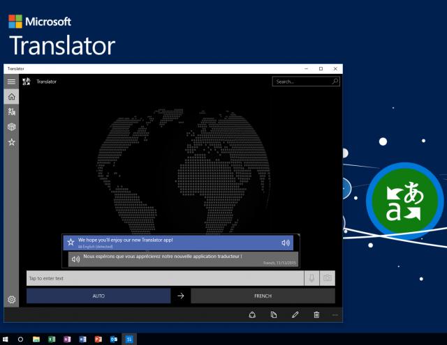Microsoft Translator app -windows10