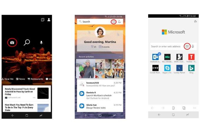 تطبيق Bing من مايكروسوفت يتيح للمستخدمين إمكانية البحث باستخدام كاميرا الهاتف