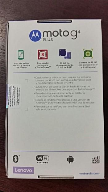 Moto G4 Plus -retail box leak