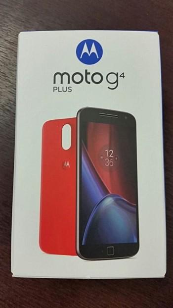 Moto G4 Plus retail box leak