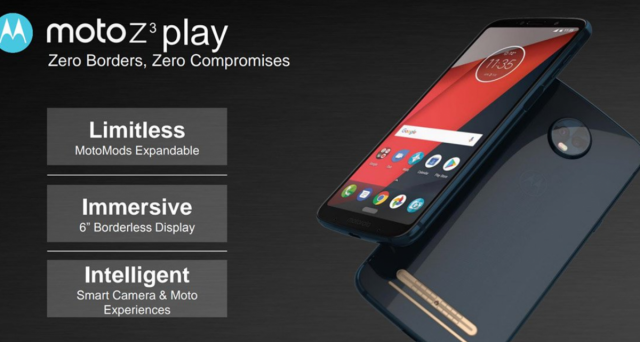 هاتف Moto Z3 Play على وشك الإطلاق في حدث 6 يونيو في البرازيل