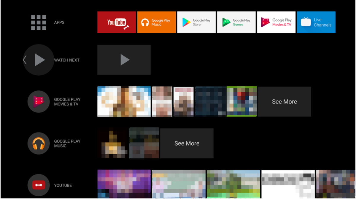New Android TV Launcher