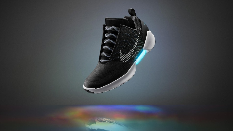 Nike-real self-lacing sneakers
