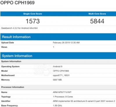 Oppo F11 Pro leak