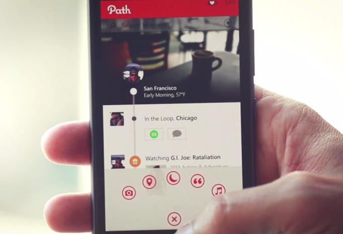 Path for Windows Phone