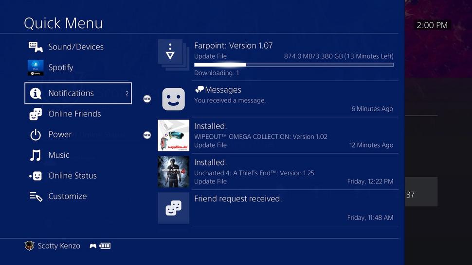 PlayStation 4 system software 5.0 details