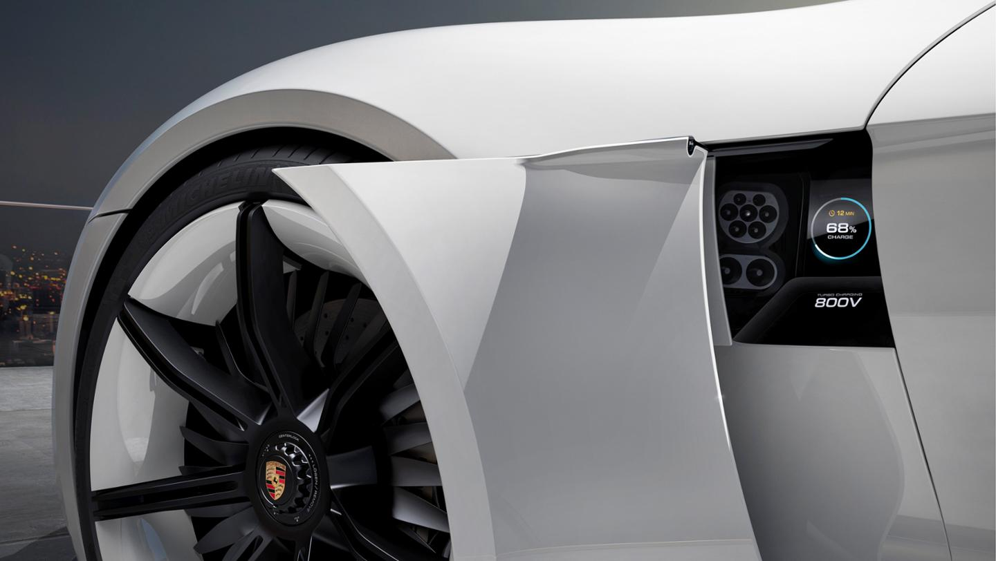 Porsche- electric Mission E sports sedan