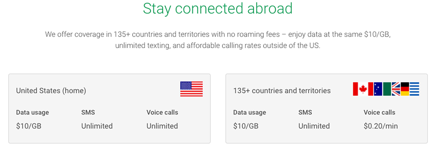 Project Fi plans abroad
