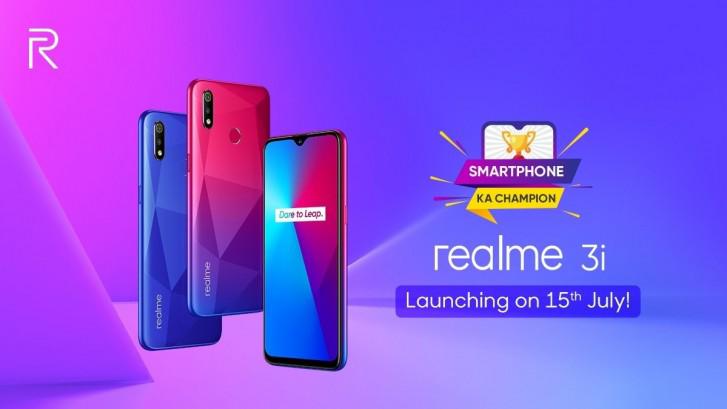 Realme تستعد للإعلان الرسمي عن هاتف Realme 3i في 15 من يوليو