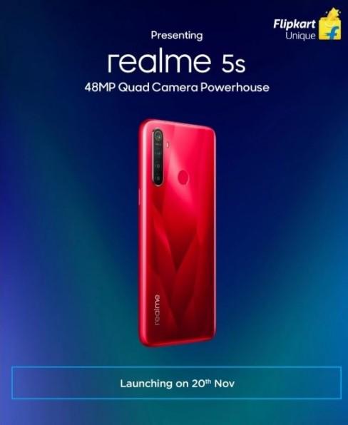 Realme 5s ينطلق رسميا في 20 من نوفمبر بكاميرة رباعية ومستشعر 48 ميجا بيكسل
