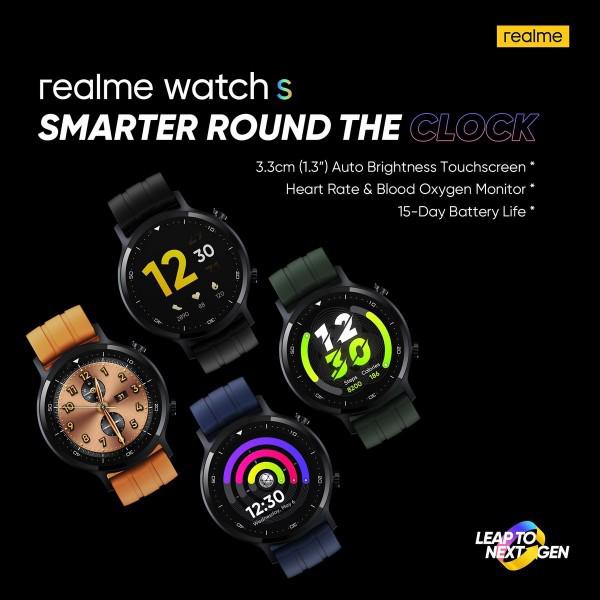 صورة Realme تستعد للإعلان الرسمي عن ساعة Realme Watch S في 2 من نوفمبر