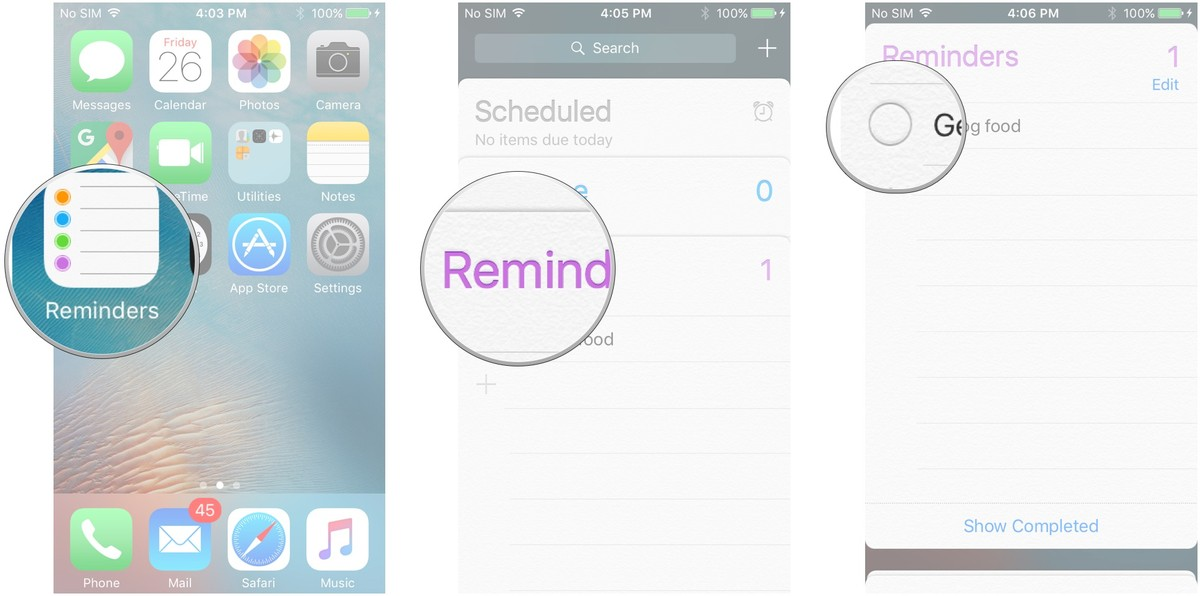 reminders app