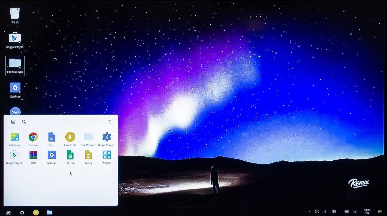 Remix Mini -desktop- start menu