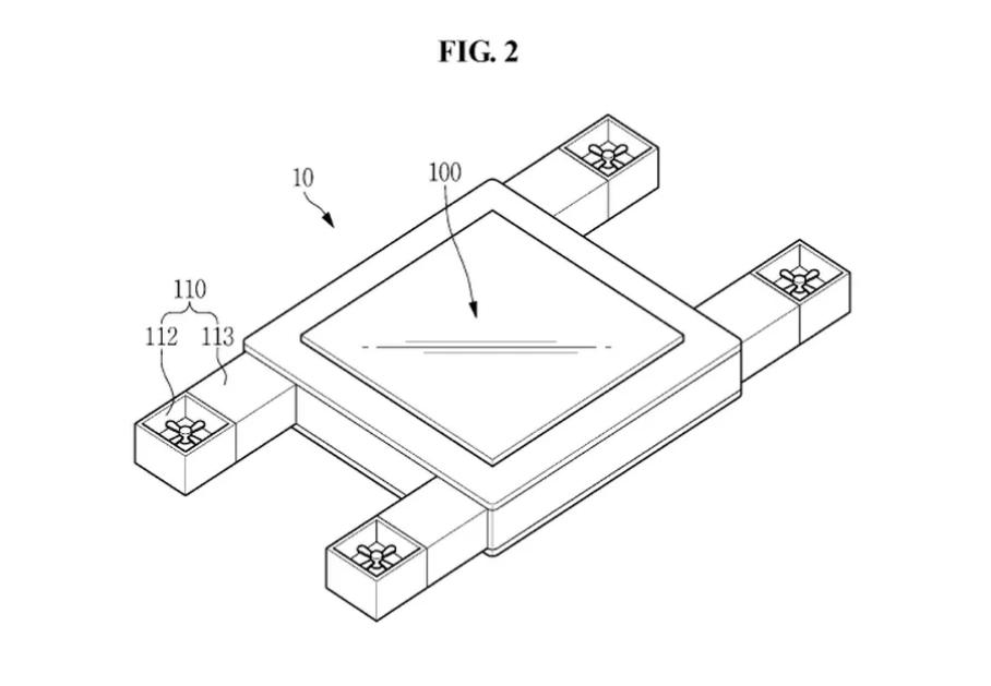 براءة اختراع من سامسونج لشاشة طائرة يتم التحكم فيها بالعين