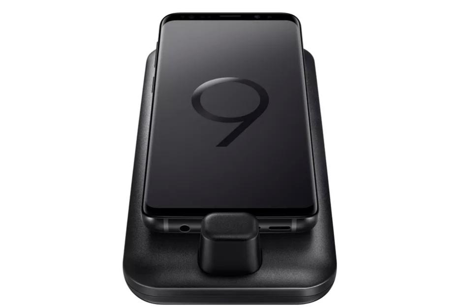 Samsung Galaxy S9 on DeX Pad
