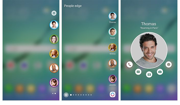 Samsung-updated - contacts panel