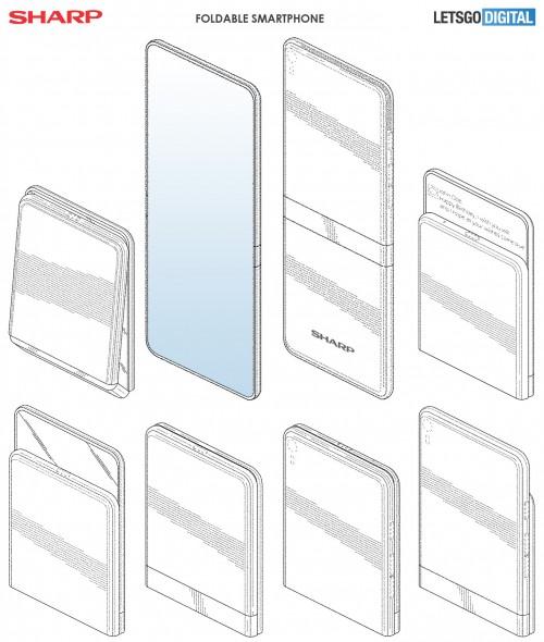 Sharp-foldable smartphone