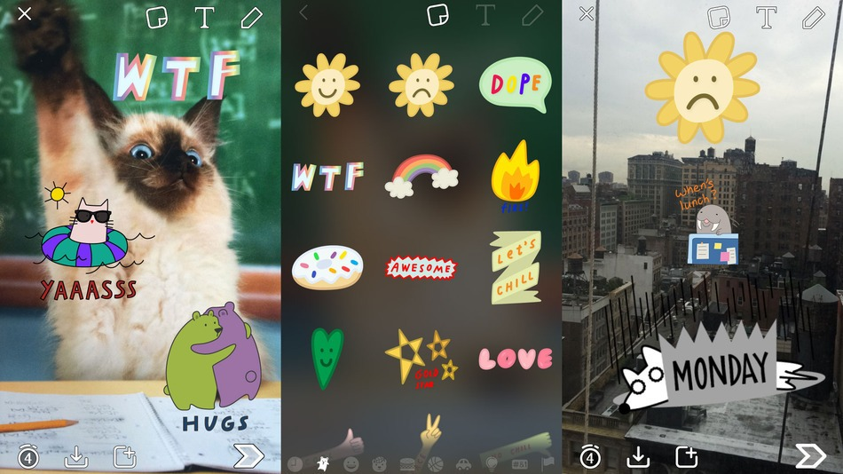 Snap-Sticker