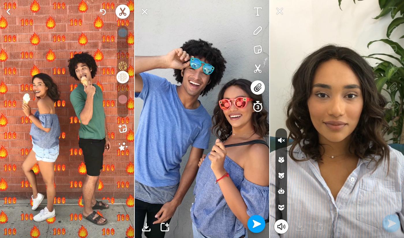 Snapchat backdrops
