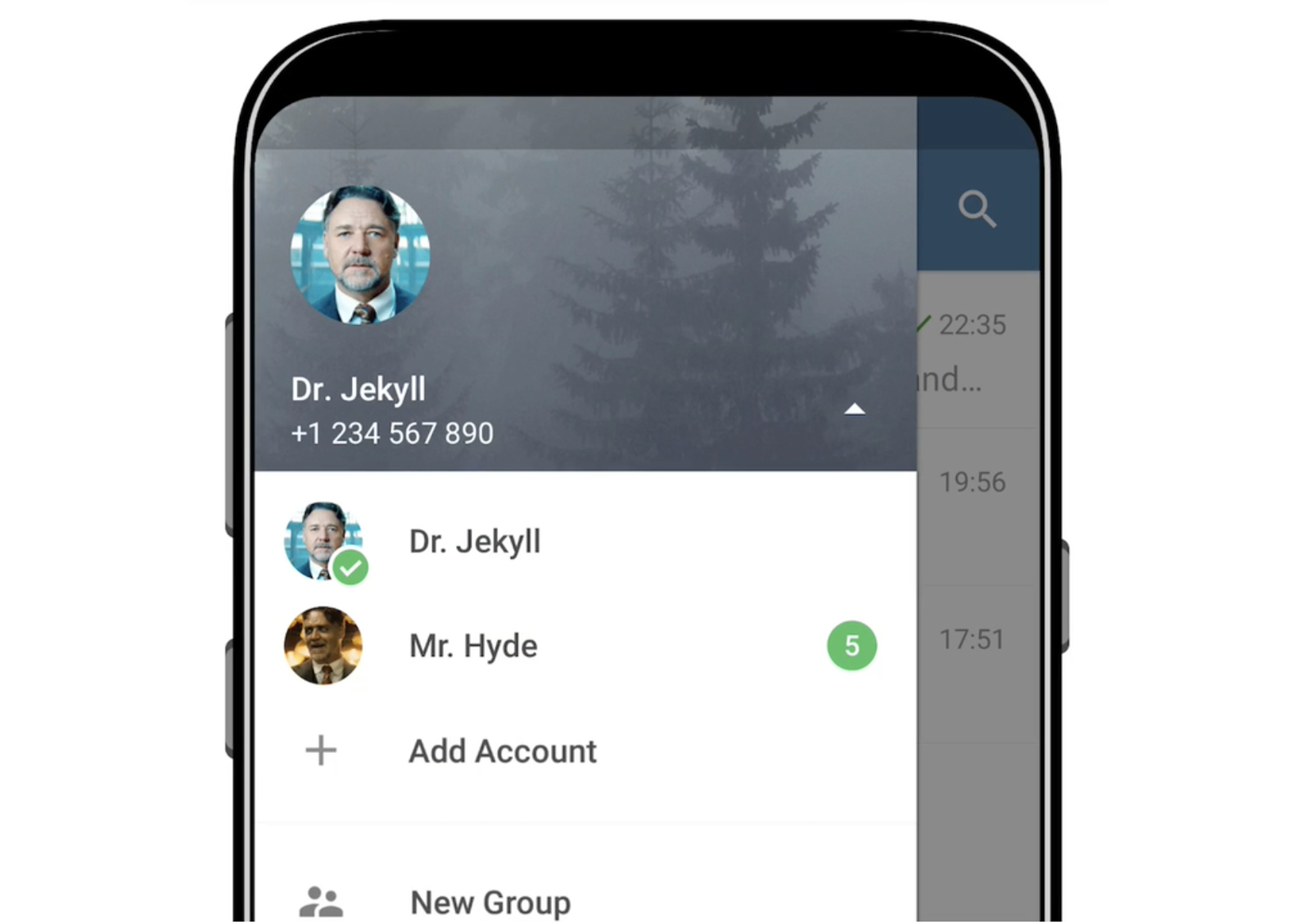 Telegram for Android now supports multiple accounts