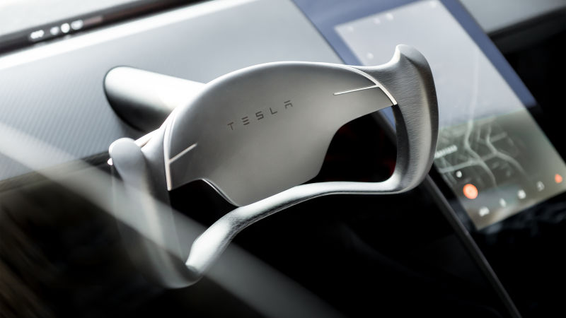 Tesla Roadster driving wheel