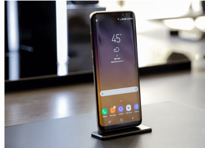 The Galaxy S8's facial scanner