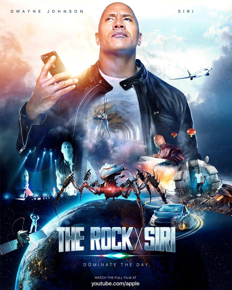 The Rock x Siri-Dominate The Day