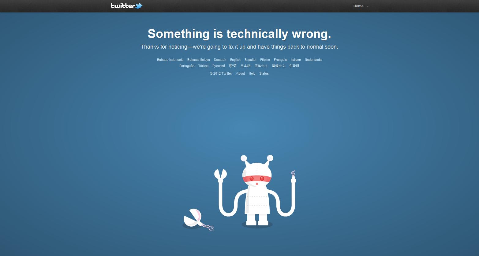 Twitter -error