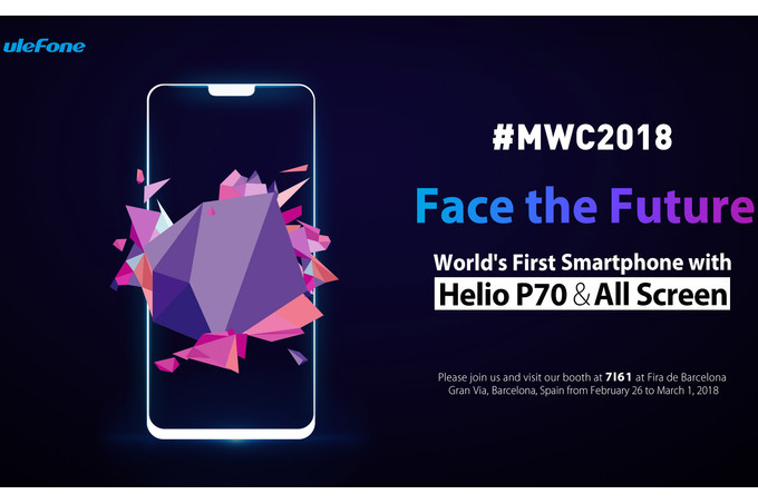 Ulefone-will-show-off-the-T2-Pro-at-MWC-all-screen-front-Helio-P70-dual-camera