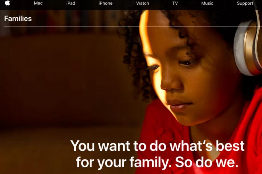 أبل تضيف صفحة جديدة للنصائح وأدوات الرقابة الأبوية على موقعها