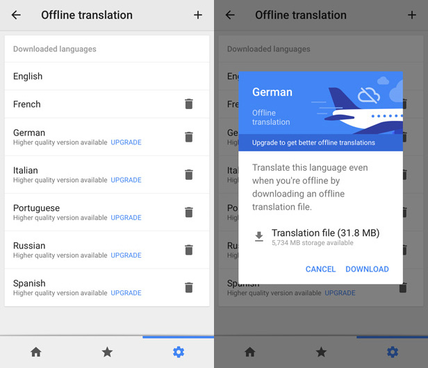 Use your phone to translate, even when you're not online