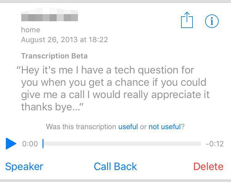 voicemail transcription