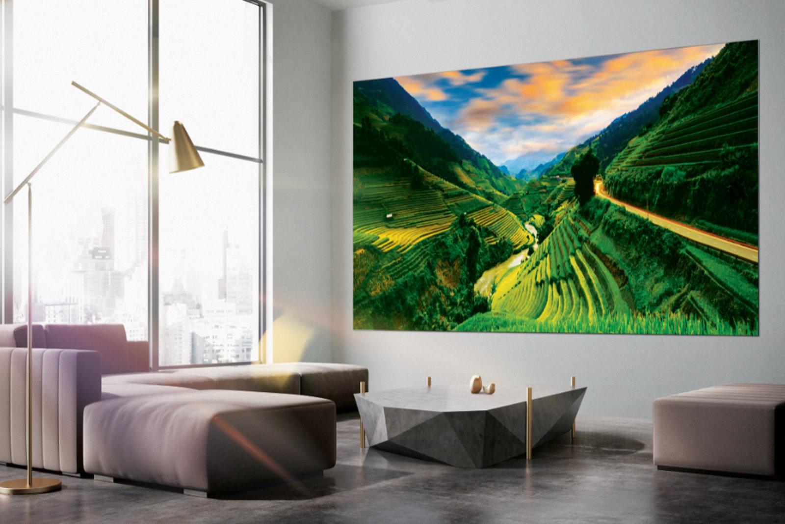 نتيجة بحث الصور عن تلفاز Wall العملاق يأتي بأحجام جديدة