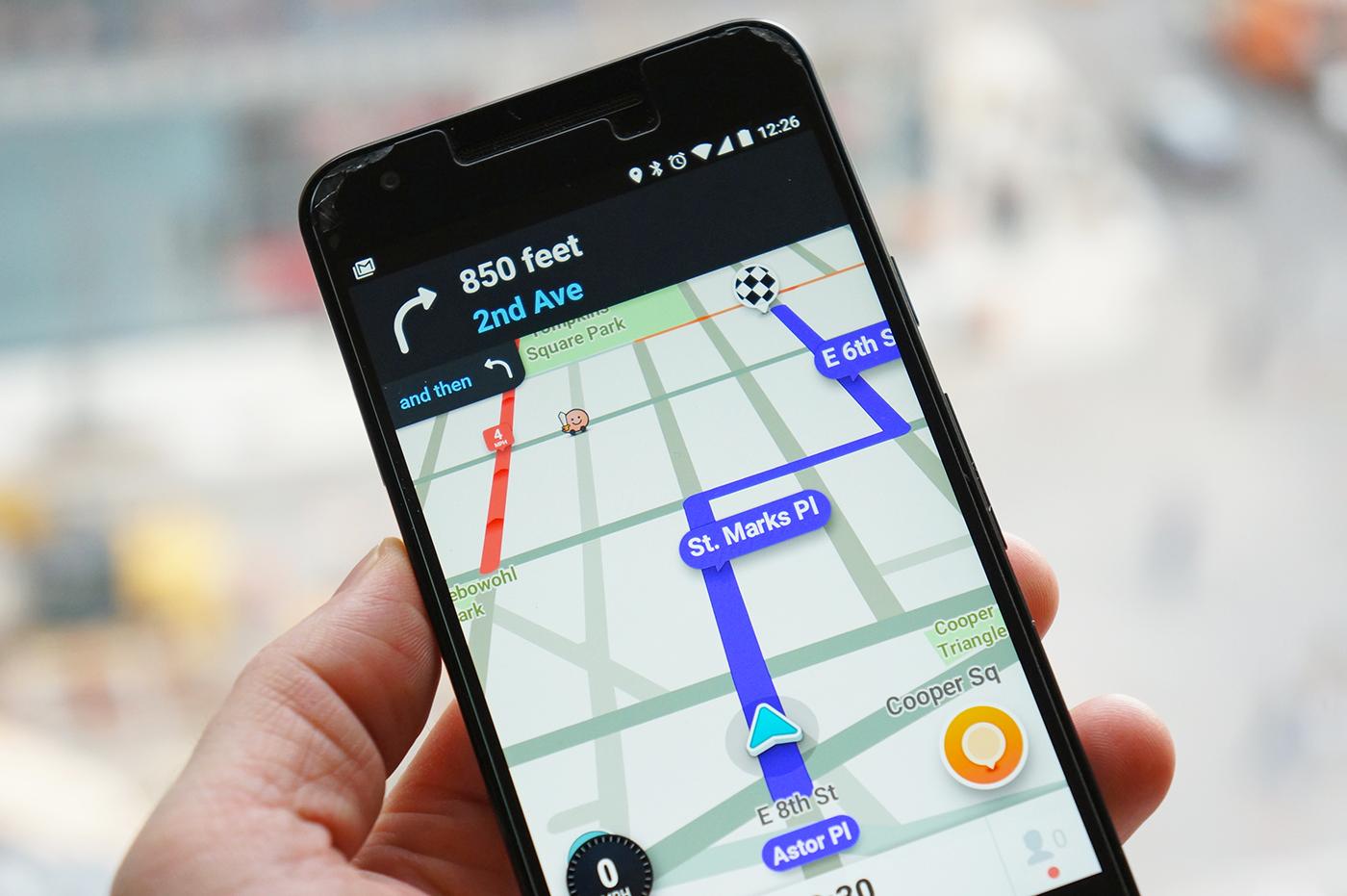 Waze's app