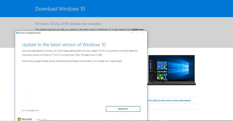 مايكروسوفت تبدأ في دفع تحديث Windows 10 لشهر مايو 2019