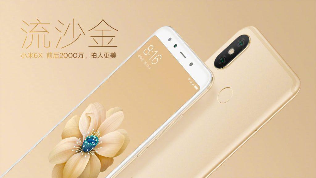 ظهور فيديو يستعرض هاتف Xiaomi Mi 6X باللون الذهبى