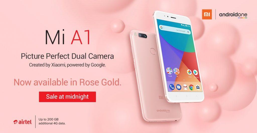 هاتف Xiaomi Mi A1 متوفر في الهند الآن باللون الوردي اللامع
