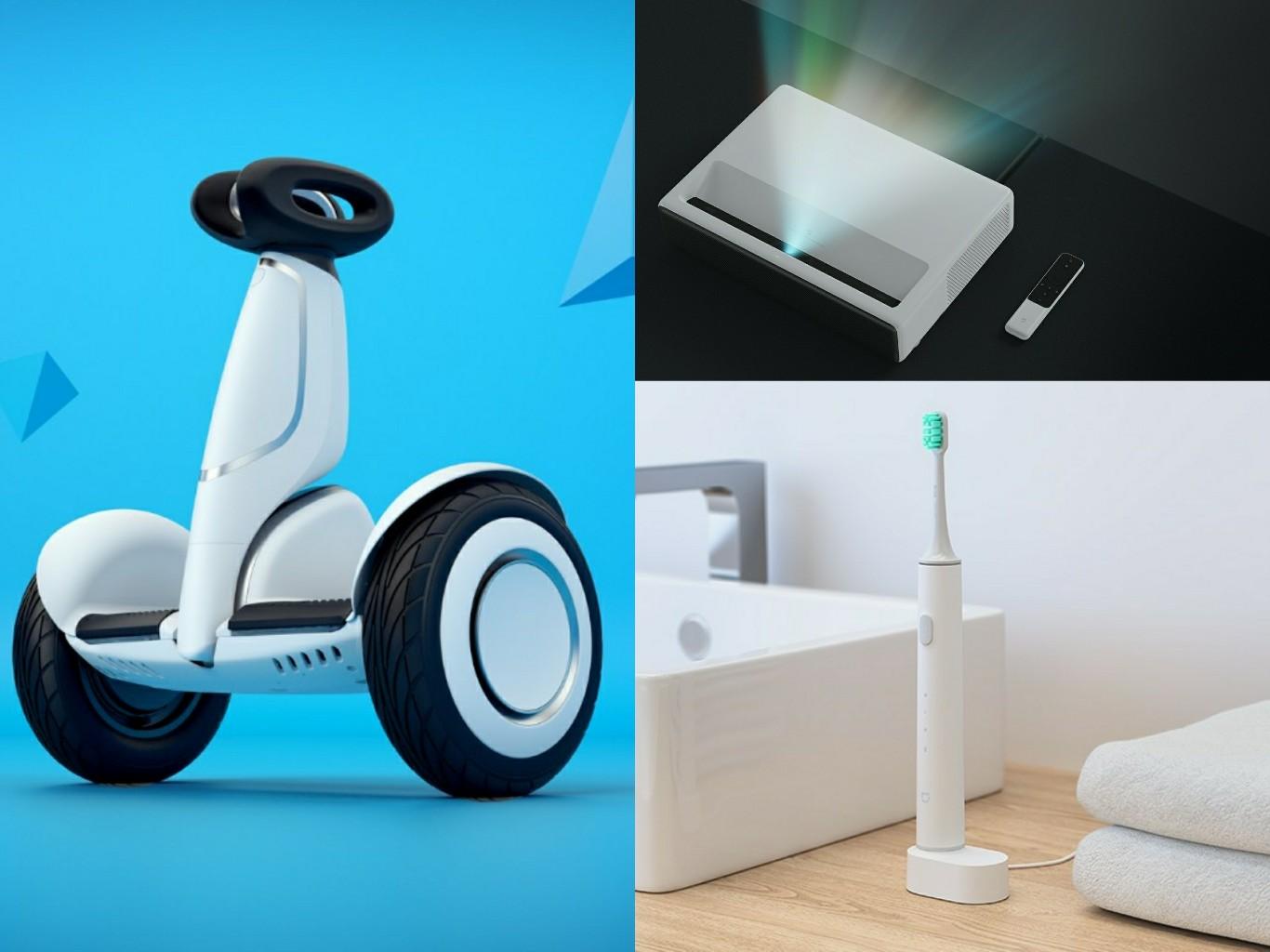 Xiaomi-Ninebot-Plus-Mi-Laser-Projector-Mi-Ultrasonic-Toothbrush
