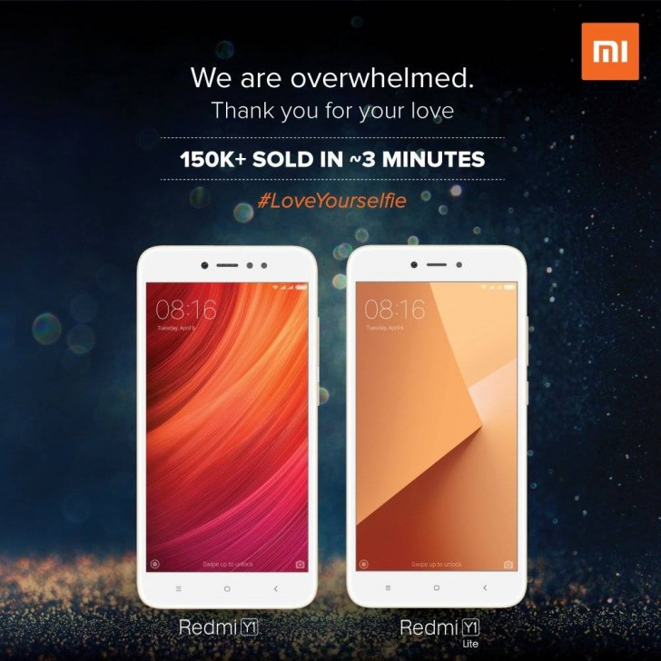 Xiaomi sells over 150K Redmi Y1 phones